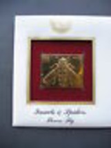 1999 Flower Fly 22kt Gold Golden Replica Cover 1st First Day Issue Stamp - $7.91