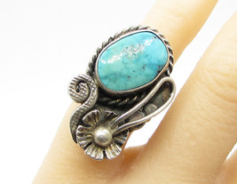 925 SILVER - JERRY & WILMA BEGAY Vintage Navajo Turquoise Ring - R1026 - €106,83 EUR