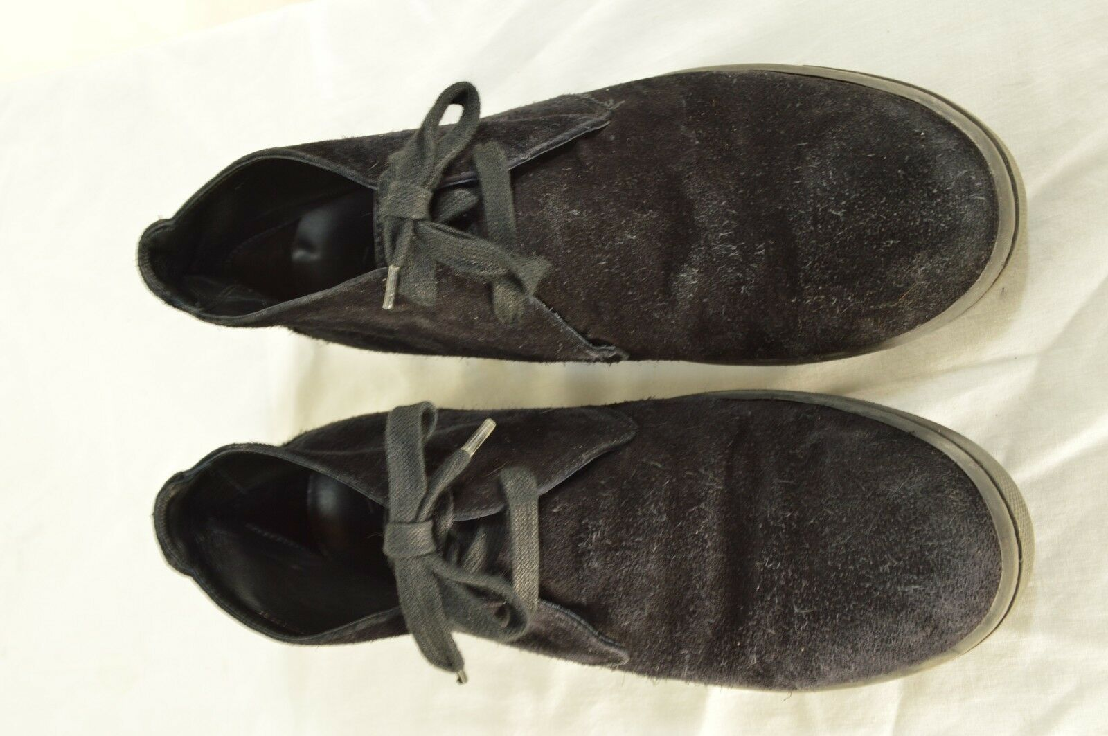 Vince shoes boots hi top US 8 EU 41 black suede leather upper leather lining