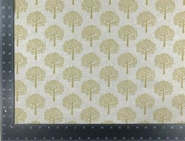 Mulberry Trees Yellow Beige Linen Look High Quality Fabric Material 3 Sizes - $7.48+