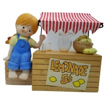 Enesco Country Cousins Katie with Lemonade Stand Vintage 1980s - $12.59