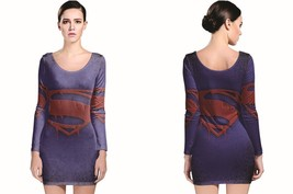 superman symbol Long Sleeve Bodycon Dress - $24.99+