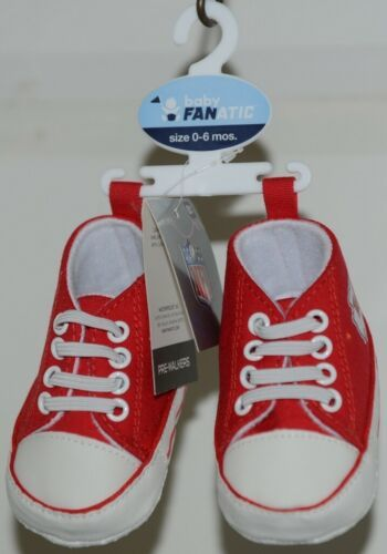 Baby Fanatic KCC2140 Kansas City Chiefs NFL Pre Walkers Baby Shoes 0 to 6 Months