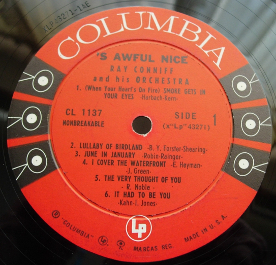 Ray Conniff & Orchestra - 's Awful Nice - Columbia CL 1137