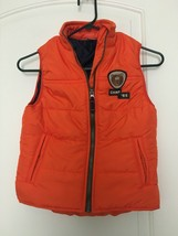 Carter's Boy's  Zip Up Lined Vest Sz 7 Orange OuterWear - $51.48