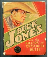 Buck Jones and the Killers of Crooked Butte Big Little Book #1451 - $56.75