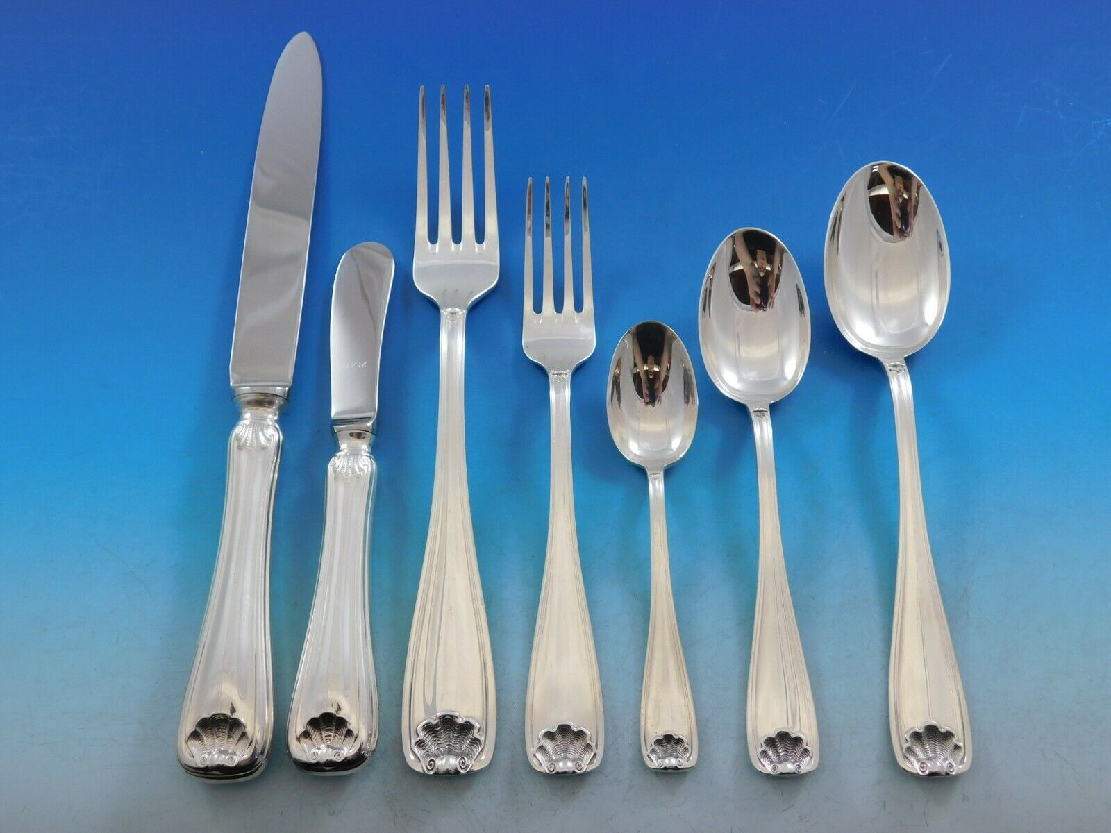 Primary image for Cellini by Fortunoff Italy Sterling Silver Flatware Set Service Dinner 90 pieces