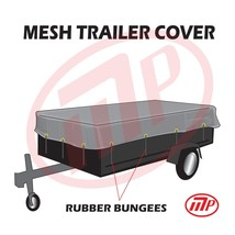 """utility trailer mesh cover with 10 pcs of 9"""" rubber bungee 10x18 (MT-TT-... - $92.98"""