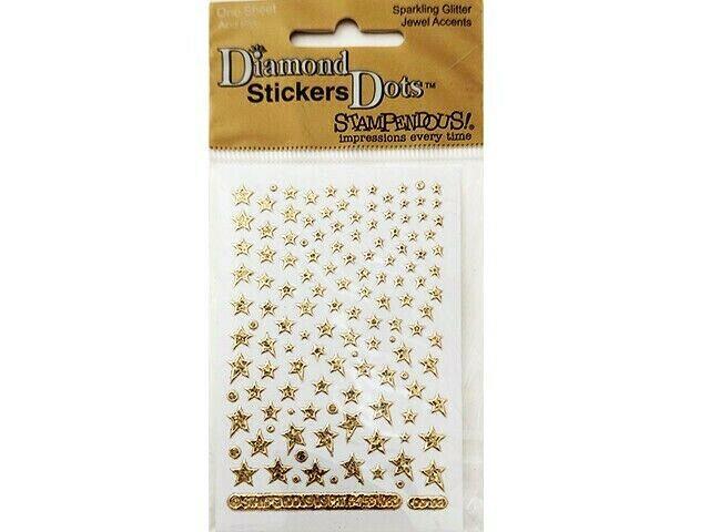Stampendous Diamond Sticker Dots, Gold Stars #DD104GD