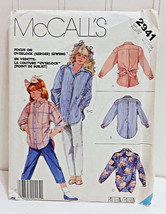 MCCALL'S Vtg 1987 Pattern #2941 Girls Medium 8-10 Retro Shirt Top Blouse... - $18.86