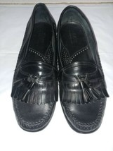 Bass Penny Loafers Tassel Cherry Leather Slip On Shoes Mens Size 10M - $12.59