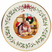 "Lenox 2016 Holiday Collector Plate Santa Checking List 26th Series 11"" N... - $38.90"