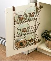 Door Hanger Lid Organizers Cabinet Organizer Easy Storage Pots & Pans Lids ... - $22.88