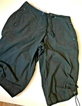 Women's SJB Active Black Walking Shorts Pockets Size S Cotton Polyester ... - $13.95