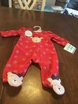 Child of Mine by Carter's - NEWBORN - Baby Girl Sleeper, Reindeer - $9.90