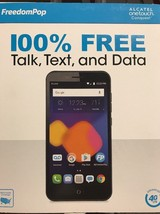 Waterproof Phone FreedomPop FREE CELL SERVICE Alcatel ONETOUCH Conquest ... - $50.37