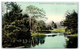 Early 1900s Mirror Lake Forest Park, Springfield, MA Postcard  - $9.28