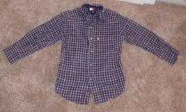 Tommy Hilfiger red blue plaid button down Shirt Boys Size 6 tb - $6.99