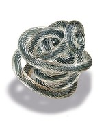 WHW Whole House Worlds Infinity Knot, Art Glass, Table Top Sculpture, Br... - $19.49