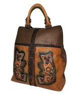 ELENCO PORTUGAL WOMEN'S LEATHER LISBON EMBROIDERED CONVERTIBLE BACKPACK ... - $188.05