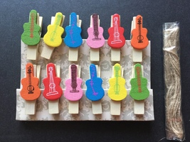 120pcs Wooden Clip,Cute Wooden Paper Pegs,Children's Birthday Party Deco... - £13.92 GBP