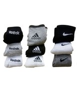 3 Pair REEBOK + 3 Pair NIKE + 3 Pair ADIDAS Ankle Length Men Socks Multi... - $17.75