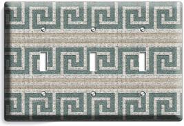 Ancient Greek Roman Ornament Pattern Triple Light Switch Plates Room Home Decor - $16.19