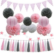 Party Decorations Supplies - Pink Baby Shower Birthday Decorations - 33p... - $20.91