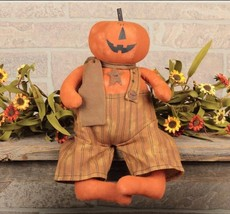 NEW!! Primitive Country Jasper Jack O Lantern By Honey N Me Halloween Fa... - $15.95