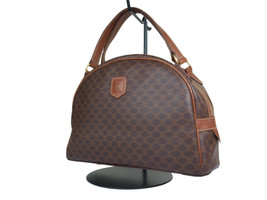 Auth CELINE Vintage MACADAM PVC Canvas Browns Shoulder Bag CS1823L - $119.00