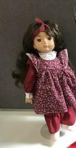 "17"" doll by Leonardo Plush/Vinyl Vintage? Beautiful Brunette - $13.37"