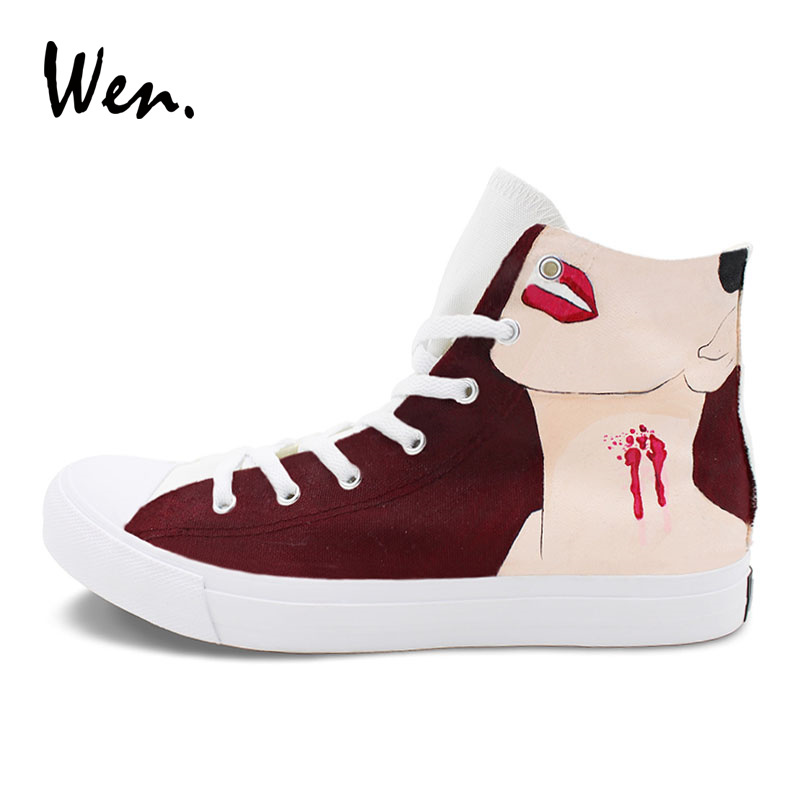 Primary image for Wen Shoes Original Design Vampire Queen Hand Painted Canvas Sneakers High Tops