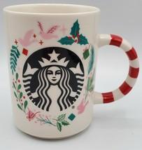 Starbucks Holiday Coffee Mug 12 oz. Christmas 2018 Holly & Doves Mermaid... - $15.83