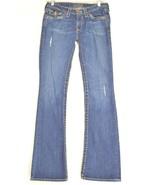 Big Star jeans 27 x 33 dark distressed flap pockets slim flare USA BKE B... - $39.59