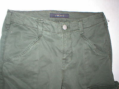 New J Brand Jeans Womens Skinny Pants Houlihan 25 Distressed Caledon Green Zip image 9