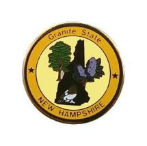 New Hampshire Pin State Bird Flower Nickname Shape Tree Travel Vacation ... - $5.38