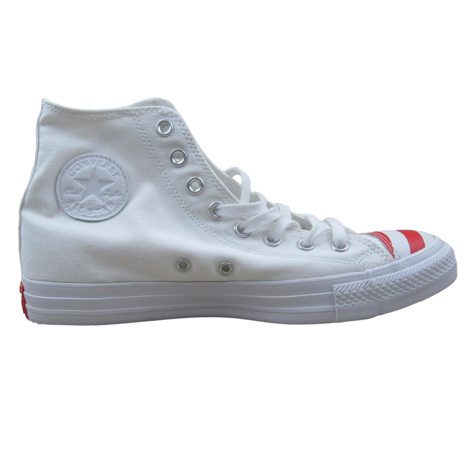 ff6fa4d6891 57. 57. Converse Chuck Taylor All Star High Size 9 Shoes Mens Toe Flag USA  White 153911C. Converse Chuck Taylor ...