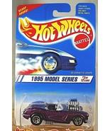 1995 Vintage Hot Wheels #341 Model Series 3/12 '58 CORVETTE COUPE Purple... - $7.50