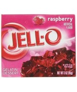 Jell-O Raspberry Instant Jello Gelatin Mix 3 oz... - $5.53