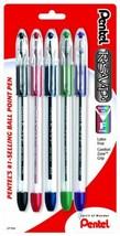 Pentel R.S.V.P. Ballpoint Pen, Fine Line, Assorted Ink, 5 Pack BK90BP5M - $11.24