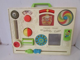 VINTAGE 1970'S FISHER PRICE ACTIVITY CENTER WORN CONDITION WORKING NO CLAMP - $7.87