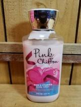 Bath and Body Works Pink Chiffon 8oz Shea & Vitamin E Body Lotion 80% Full - $10.10