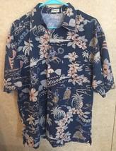 Men's IZOD Hawaiian Button Up Size Medium - $15.05