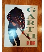 """GARTH BROOKS - ON TOUR - THE EXPERIENCE - LARGE 12"""" X 15"""" 1992 TOUR BOOK! - $15.83"""