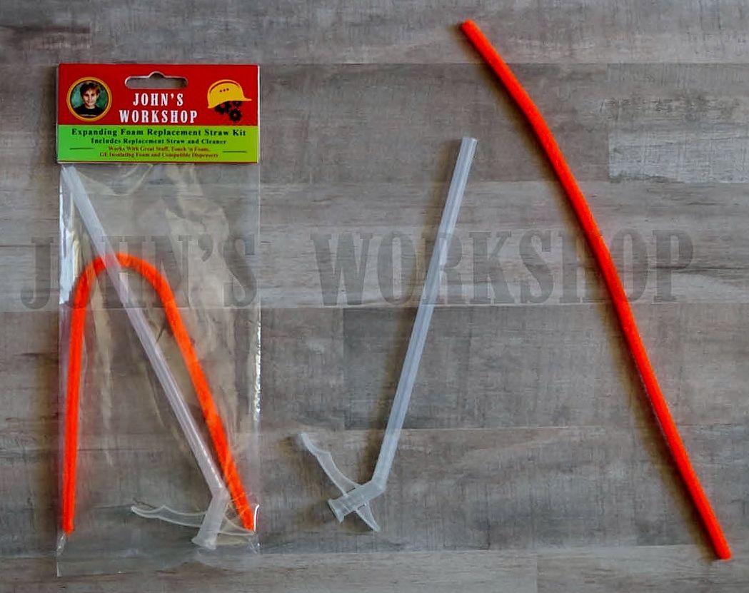 Basic expanding insulation sealant straw kit great stuff