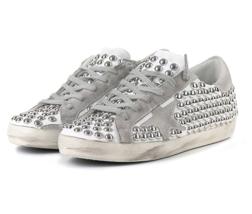 Golden Goose Women's Stud Superstar Low Top Sneakers GCOWS590 F8 Authentic - $730.05