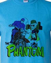 The Phantom T-shirt retro comic book free shipping cotton blend blue tee image 1