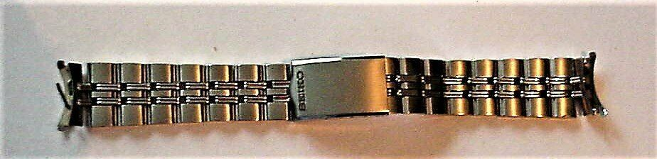 Primary image for NOS Seiko Watch Silver-tone Bracelet Watch Band Japan Z 5 5/8""