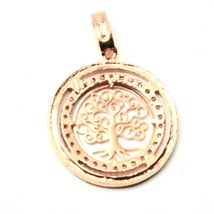 Pendant Tree of Life Gold 18K 750 Pink and Zircon Cubic image 5