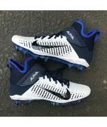 BRAND NEW Nike Alpha Menace Pro 2 Mid MEN'S BLUE Football Cleats AQ3209-104 - $54.99